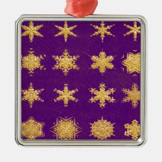 Copos de nieve en el ornamento del premio del cuad adorno
