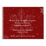 Copos de nieve en la invitación del fiesta del invitación 10,8 x 13,9 cm