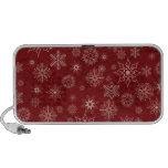 Copos de nieve en rojo iPod altavoz