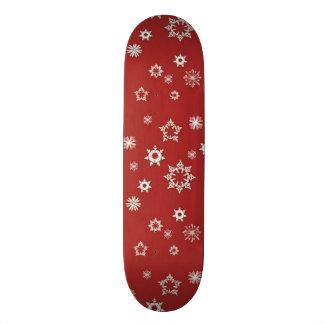 Copos de nieve en rojo tablas de skate
