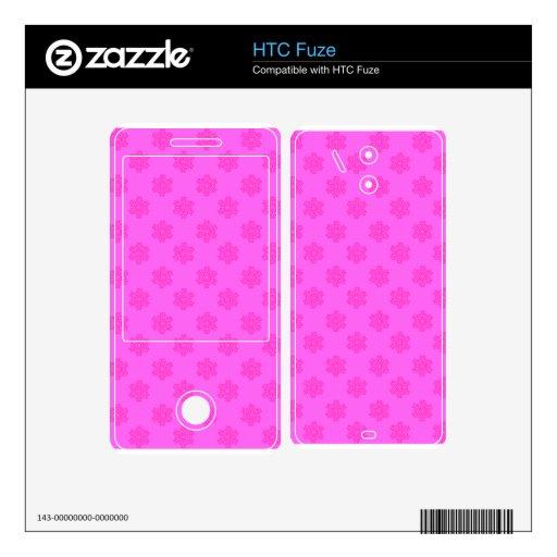 Copos de nieve en rosa skin para el HTC fuze