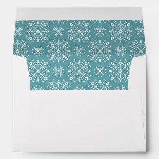 Copos de nieve estilizados sobres