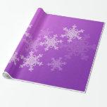 Copos de nieve femeninos del navidad púrpura y bla