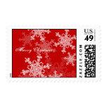 Copos de nieve femeninos del navidad rojo y blanco
