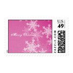 Copos de nieve femeninos del navidad rosado y blan