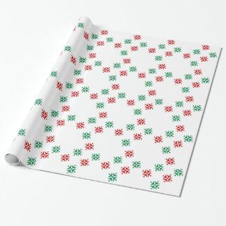 Copos de nieve festivos del aeroplano papel de regalo