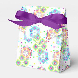 Copos de nieve festivos - personalizable cajas para regalos