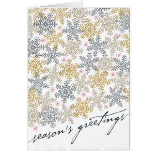 Copos de nieve festivos felicitación