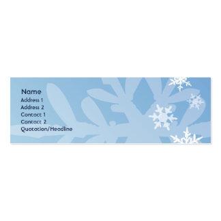 Copos de nieve - flacos tarjetas de visita mini