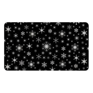Copos de nieve - grises claros en negro plantillas de tarjetas personales