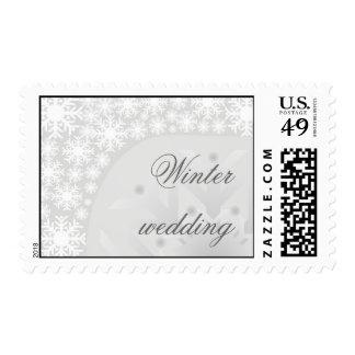 Copos de nieve grises helados - sello del boda del