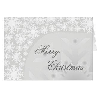 Copos de nieve grises helados - tarjeta de felicit