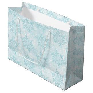 Copos de nieve helados bolsa de regalo grande