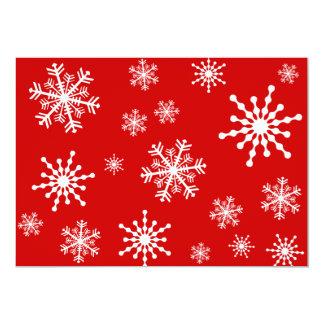 Copos de nieve invitación personalizada