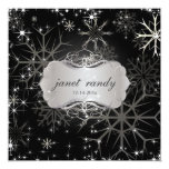 Copos de nieve, invitaciones del boda del invierno invitación 13,3 cm x 13,3cm