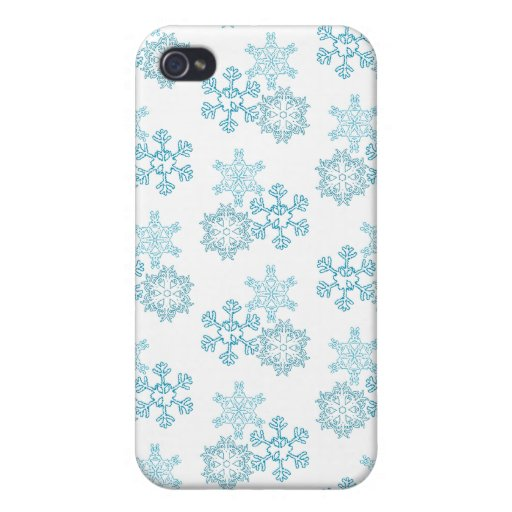 Copos de nieve iPhone 4/4S fundas