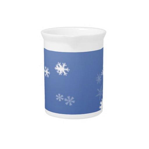 Copos de nieve jarra para bebida