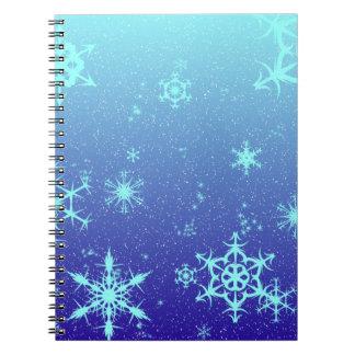 Copos de nieve libro de apuntes con espiral