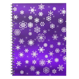 Copos de nieve libretas espirales
