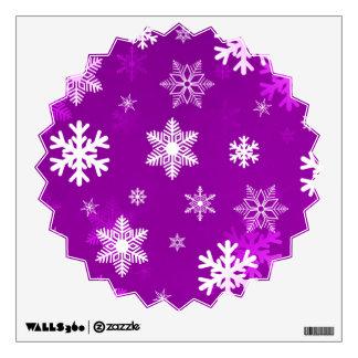 Copos de nieve ligeros de la lila