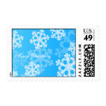 Copos de nieve lindos del navidad azul y blanco