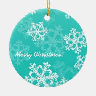 Copos de nieve lindos del navidad blanco de la tur ornato