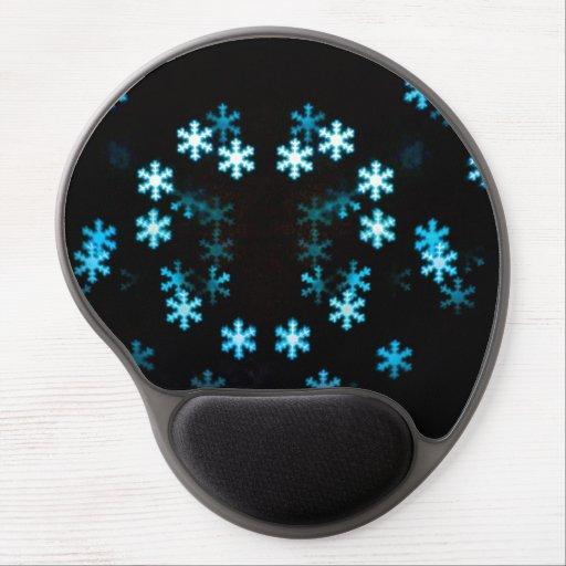 Copos de nieve mágicos del navidad alfombrillas de ratón con gel