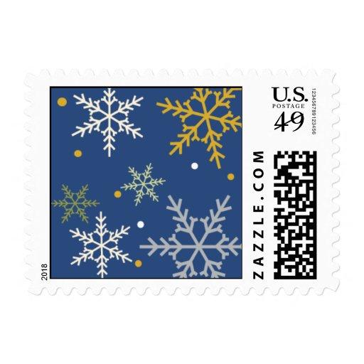 Copos de nieve mágicos timbre postal