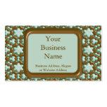 Copos de nieve - menta del chocolate plantillas de tarjeta de negocio