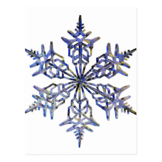 Copos de nieve, mirada bordada tarjetas postales