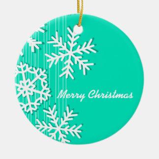 Copos de nieve modernos del blanco del navidad bla ornaments para arbol de navidad