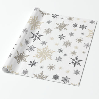 copos de nieve modernos del vintage papel de regalo