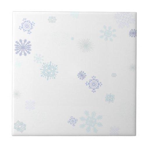 Copos de nieve pálidos azulejos ceramicos