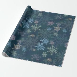 Copos de nieve papel de regalo
