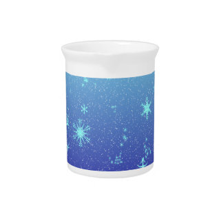 Copos de nieve jarras para bebida