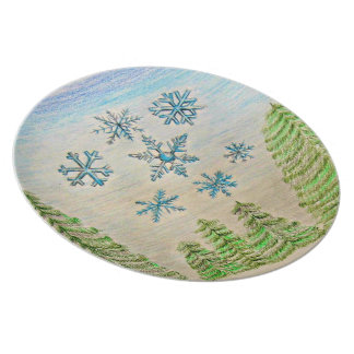copos de nieve platos