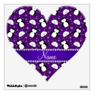 Copos de nieve púrpuras conocidos de encargo de