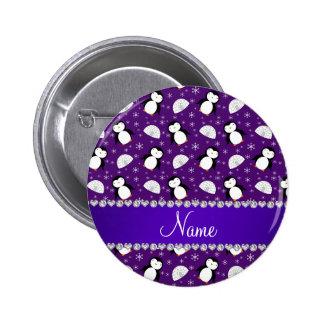 Copos de nieve púrpuras conocidos de encargo de pin redondo 5 cm