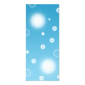 """Copos de nieve que caen brillantes invitación 4"""" x 9.25"""""""