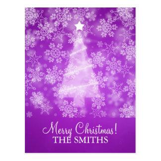 Copos de nieve que caen del navidad de la familia tarjetas postales