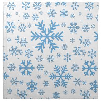 Copos de nieve que caen, ráfagas servilletas de papel