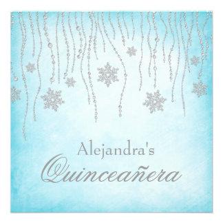 Copos de nieve Quinceanera del diamante del país d