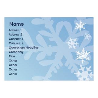 Copos de nieve - rechonchos tarjetas de visita grandes