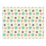 Copos de nieve retros frescos del pastel del día tarjeta postal