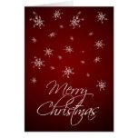 Copos de nieve rojos - Felices Navidad Tarjeta De Felicitación
