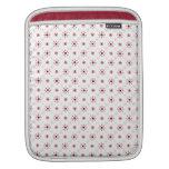 Copos de nieve rojos lindos fundas para iPads