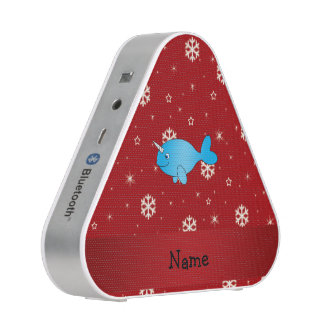 Copos de nieve rojos narwhal conocidos altavoz