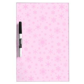 Copos de nieve - rosa en rosa claro pizarras