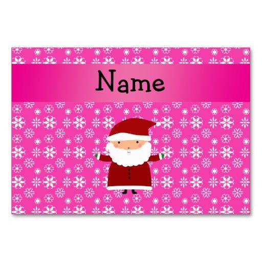 Copos de nieve rosados conocidos personalizados de