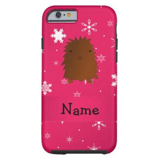 Copos de nieve rosados conocidos personalizados de funda de iPhone 6 tough
